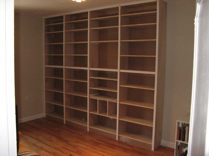 built bookcase plans