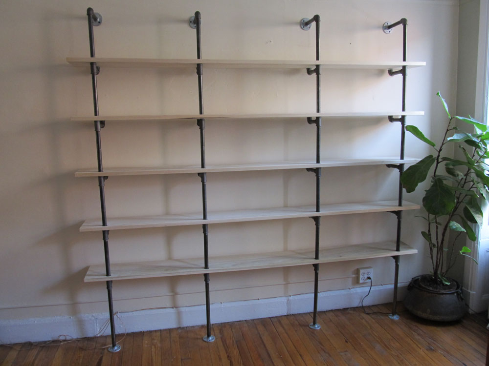 pipe shelving  park slope brooklyn