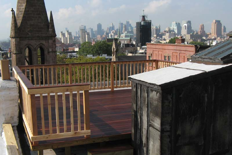 Ipe Roof Deck Park Slope Brooklyn Skylight Cover